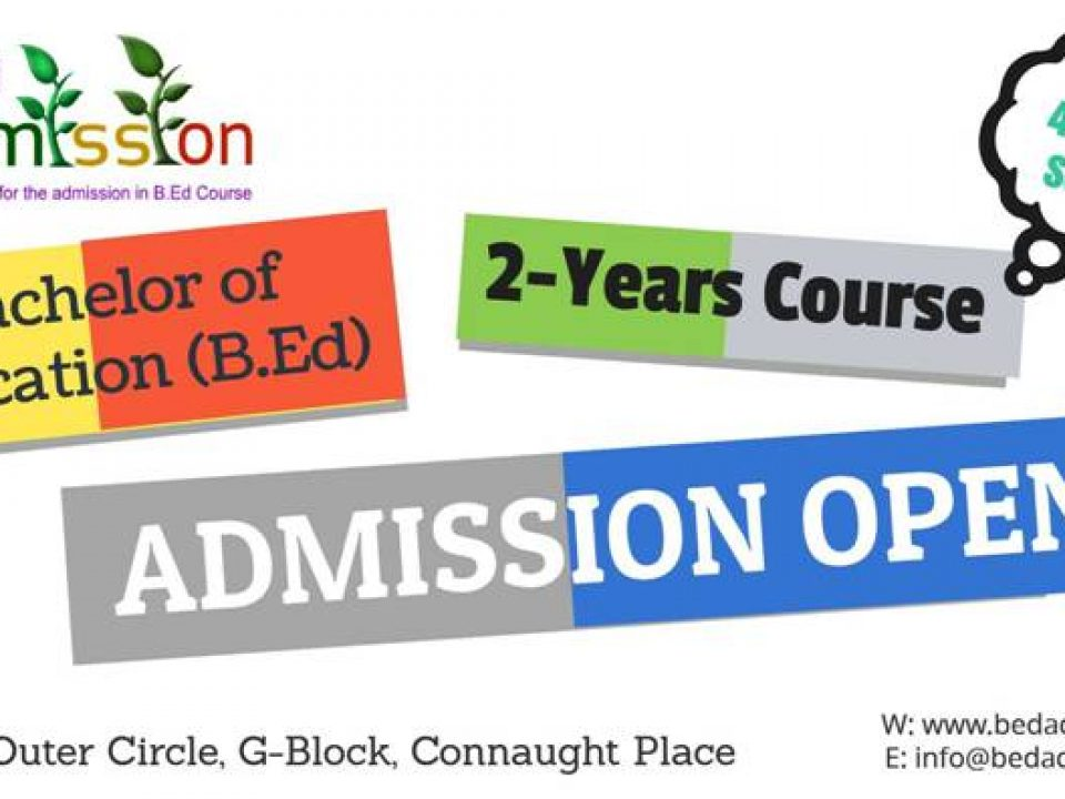 B.Ed 2-year course admission