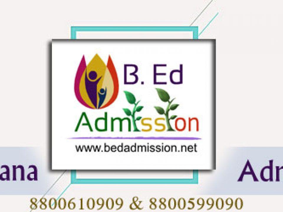 B.Ed 2018 Admission Process