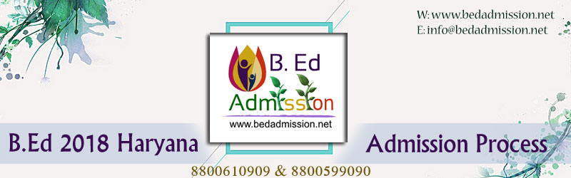 B.Ed 2018 Admission Process