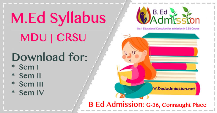 M.Ed-Syllabus