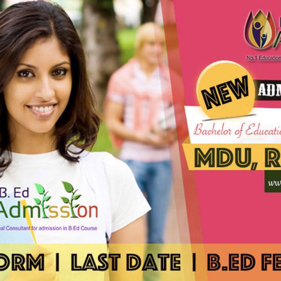 MDU-B.Ed-Admission