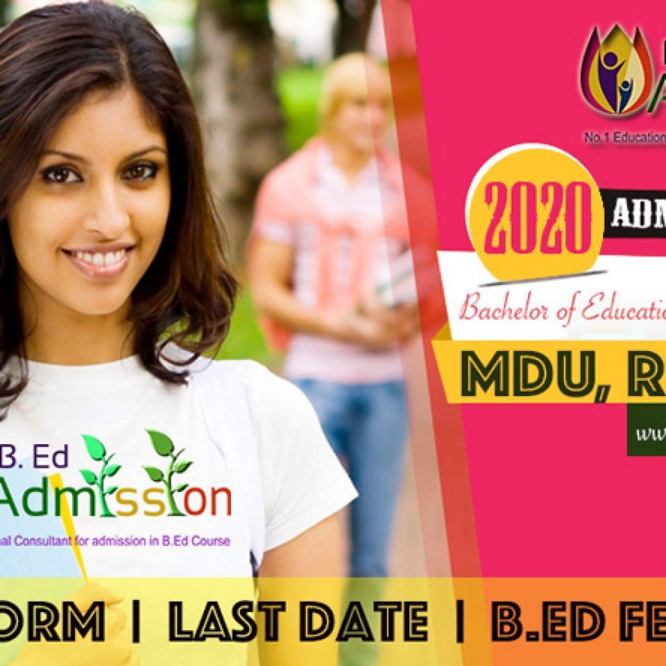 MDU-BEd-2020Admission